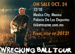 Bruce Springsteen actuara en Mexico como final de gira 2012